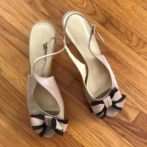 Kate Spade Peep Toe Heels with bow, size 9.5